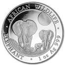 SOMALI REPUBLIC Silver Coin 1 OZ SILVER ELEPHANT